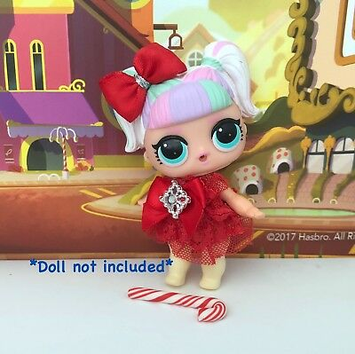 3 PC Custom LOL Surprise Doll Christmas Clothes Bow Lot *Unicorn Not Included*