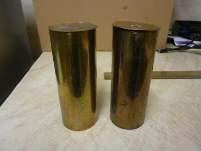 Pair Vienna Regulator  Brass Cased Weights (B)