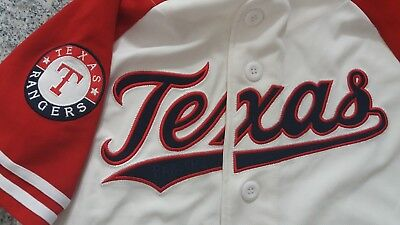 Texas Rangers Stitched White Vintage Jersey With Red Sleeves Trikot
