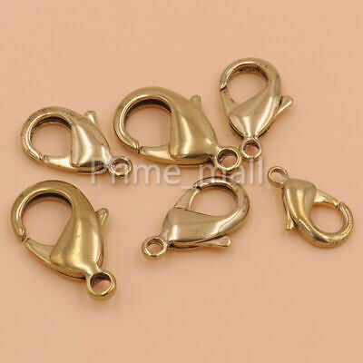 Lots of Lobster Claw Clasps Solid Brass Jewelry Finding Fastener Bag snap hook