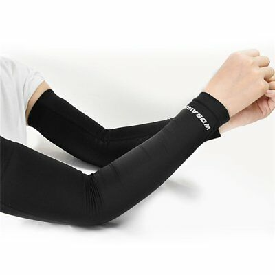 Outdoor Arm Cover Sleeves Sunscreen Cuff Cycling Ice Silk Protection Sleeves 0B