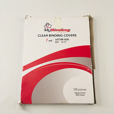 Clear Plastic Binding Covers, 7 Mil, Letter Size (8.5x11), My Binding,100 Sheets