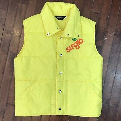 Sunglo Wax Vintage 80s Mens XL Quilted Sportsmaster Snap Puffer Vest