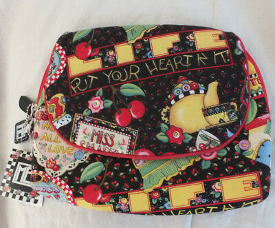 """""""Put your Heart In It"""" Mary Engelbreit Cosmetic Bag NEW"""