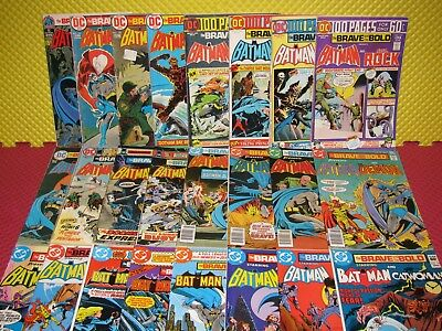 The Brave and the Bold 93-197 Lot of 24 Bronze Age DC Batman Comics + 100 Pagers