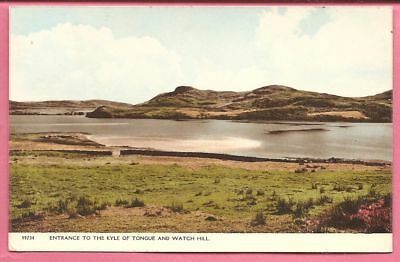 Entrance to the Kyle of Tongue and Watch Hill, Sutherland, Scotland postcard.