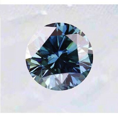 Diamant/Brillant/Moissanite  0,79 ct.  VVS2  6,10 mm  Fancy Dark Blue  Top !