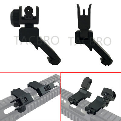 Offset 45 Degree Front Rear Set Rapid Transition BUIS Flip Up Back Up Iron Sight