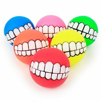 Pet Dog Cat Ball Chew Tooth Cleaning Holder Puppy Training Interactive Toys MP