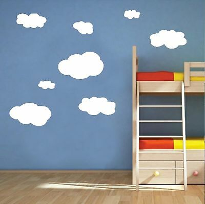 Large Clouds Removable Wall Stickers Kids Nursery Wall Decals Art Mural Decor
