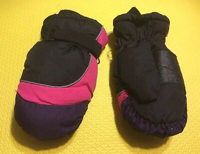 TODDLER GIRL's SNOW MITTENS with Fleece Lining