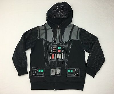 Star Wars Boy's Hoodie Large Darth Vader With Cape Black Long Sleeve LucasFilm