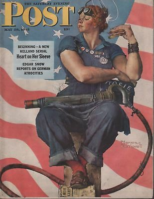 Saturday Evening Post May 29 1943 Norman Rockwell Cover Lithograph