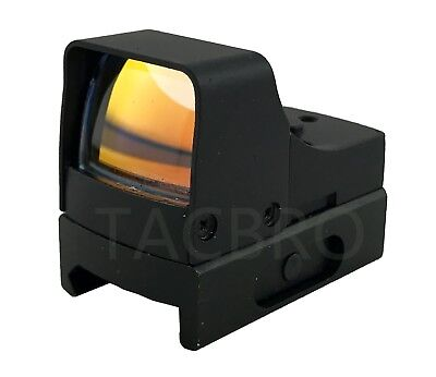 Mini Holographic Reflex Micro 3 MOA Red Dot Sight w/ Picatinny Weaver Mount