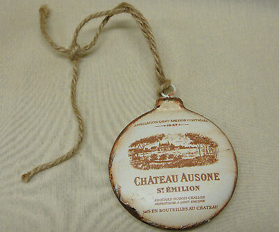 French Advertisement FRENCH WINES Labels on a Decorative ORNAMENT Ornament