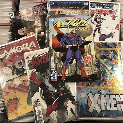 Comic Book Lot 50 Marvel Dc Indy No Doubles With Actions Comics 1000