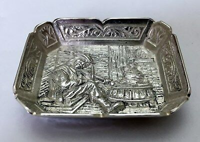 Solid Hall Marked Silver Pin Tray London 1993 Weight 27.8 Gms