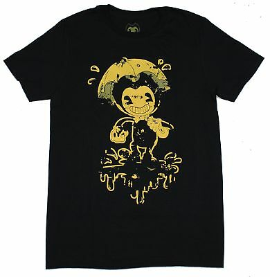 Bendy And the Ink Machine Mens T-Shirt - Bendy in the Rain Image