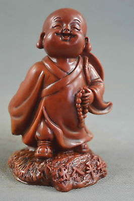 China Collectable Old Shoushan Stone Carve Buddha Hold Hat Figurines Rare Statue