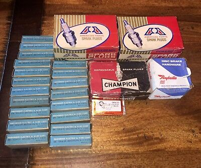 NIB Vintage Spark Plugs Ignition Points Contacts Auto Parts Delco Remy Champion