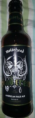 "Motorhead ""road Crew"" Beer Bottle (Empty) Plus Bottle Top  *vgc*"
