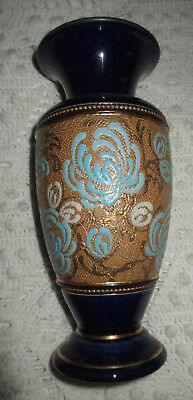 ANTIQUE C.1900 Royal Doulton LAMBETH SLATER STONEWARE VASE PERFECT CONDITION