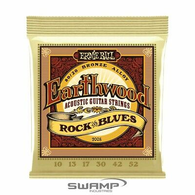 Ernie Ball 2008 Earthwood Rock and Blues 80/20 Bronze Acoustic Guitar Strings