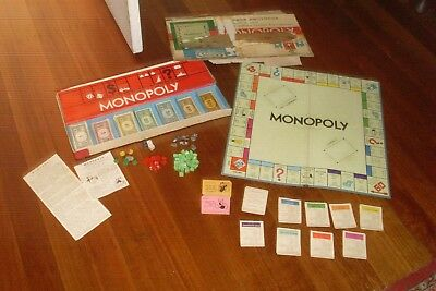 VINTAGE 60's PARKER BROTHERS MONOPOLY REAL ESTATE BOARD GAME -MADE IN AUSTRALIA