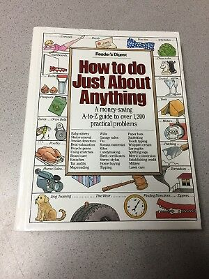Vintage Book How To Do Anything Reader's Digest Guide To Practical Problems Hrdc