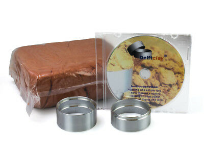 Delft Modeling Clay Kit, 2kg Of Clay Plus Two Casting Rings, PLUS Dvd