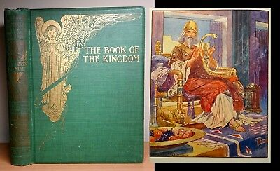 1912 The Book Of The Kingdom ART NOUVEAU Illustrated T.H ROBINSON Antique Fairy