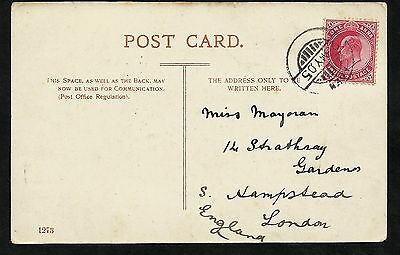 1905 1 Anna India stamp tied by an Aden cancel 23 MY, to a poscard of the Church