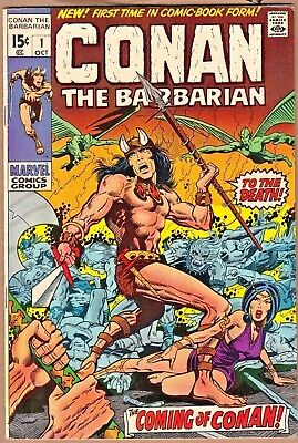 Conan the Barbarian #1 *FIRST ISSUE* (Marvel-1970) FN/FN+  Solid! *combine*