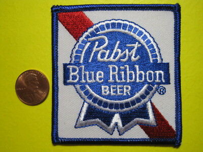 Beer Patch Pabst Blue Ribbon Beer Crest / Cap Size Look And Buy! Free Shipping!!
