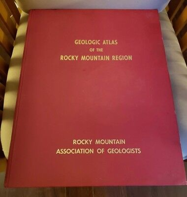 "OVERSIZE (18"" x 22"") 1972 Geologic Atlas of the Rocky Mountain Region"