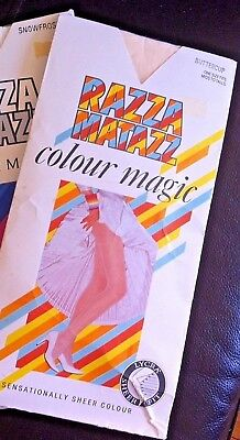 Razzamatazz Colour Magic Vintage Pantyhose One Size Fits Mids To Talls Buttercup