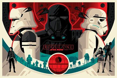 Rogue One A Star Wars Story Imperial Forces Tom Whalen RED Lithograph Poster