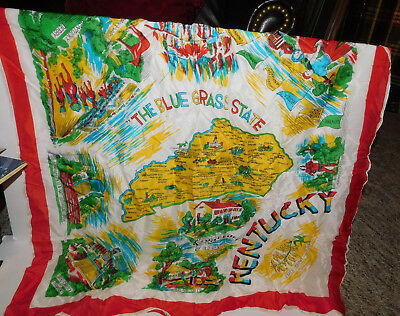 Neat Souvenir Rayon Scarf From Kentucky Made In Japan