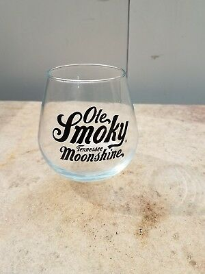 Ole Smoky Tennessee Moonshine Round Bottom  Glass ~ Free Shipping