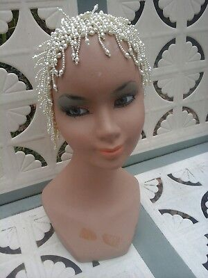 Female Mannequin Head Glass Eyes Display Jewelry Wig