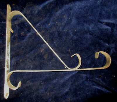 VINTAGE ARCHITECTURAL SALVAGE Wrought Iron Metal WALL Sign Bracket Wall Mount
