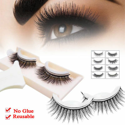 New Arrival 1 pair Reusable Self-Adhesive Natural Curly Eyelashes Extension A+