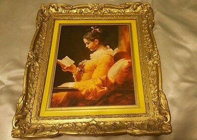 "Vintage Home Interiors and Gifts Inc. ""Young Girl Reading"" No. 1793  Picture"