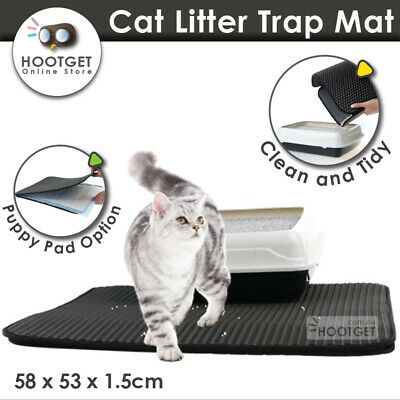 Double Layer Cat Litter Tray Trap Mat Catch Cat Litter House Box Pad Toilet