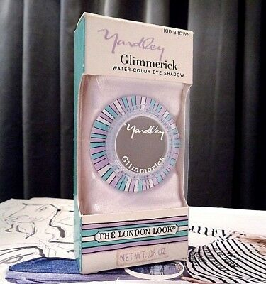 Vintage Yardley Glimmerick Eye Shadow In Kid Brown New Boxed London Look 1969