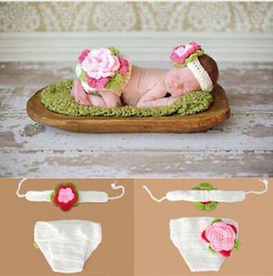 Crocheted Flower Baby Photography Prop, Handmade