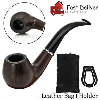Wooden Smoking Pipe Tobacco Cigarettes Cigar Pipes Solid Wood Acrylic Gift