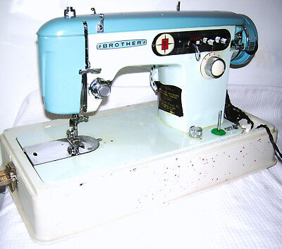 VINTAGE BROTHER CHARGER 40 Sewing Machine Teal Cream Turquoise Beauteous Brother Charger 651 Sewing Machine Manual