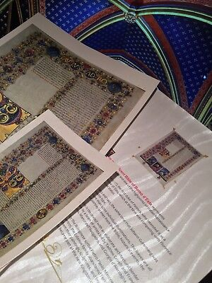 Bible of Borso d'Este  Illuminated Manuscript - Gold Accents. NEW