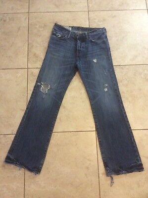 ABERCROMBIE & FITCH Low Rise BAXTER Slim Boot Blue JEANS ~ Boy's 16